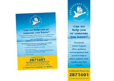 Cancer Support Flyer & Book Marker