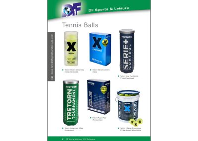 DF Sports & Leisure, Tennis Catalogue