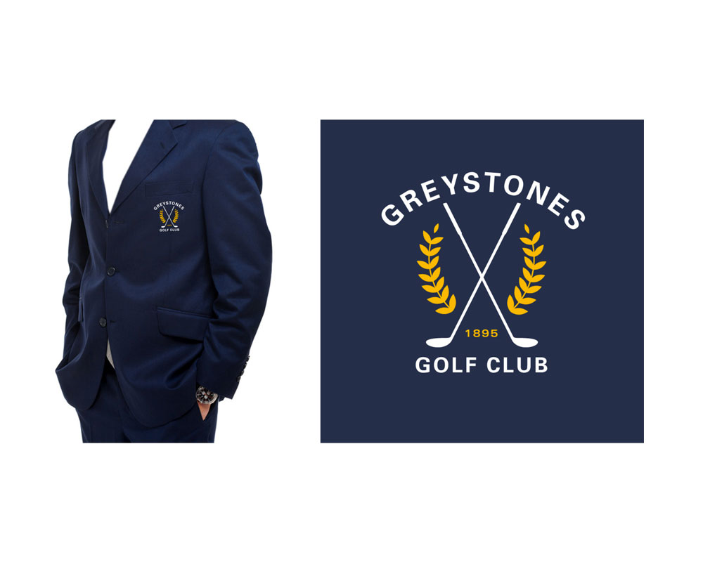 Greystones Golf Club Logo for clothing brand