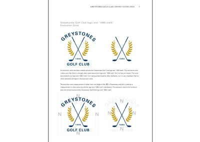 Greystones Golf Club, brand guidelines